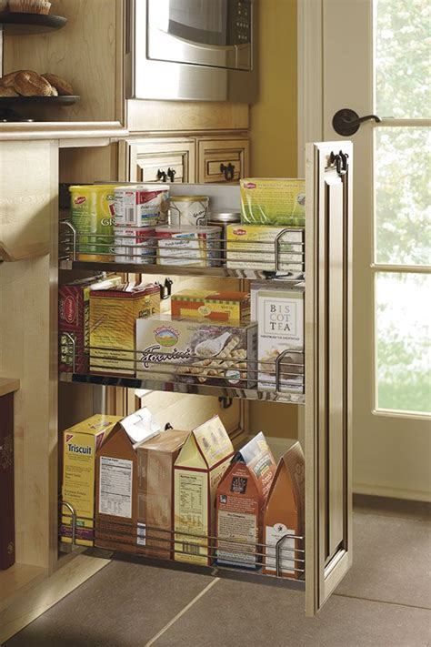 base pantry pullout cabinet    tiered sleek