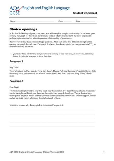 free printable english worksheets ks4 gcse english revision worksheets by ntsecondary teaching