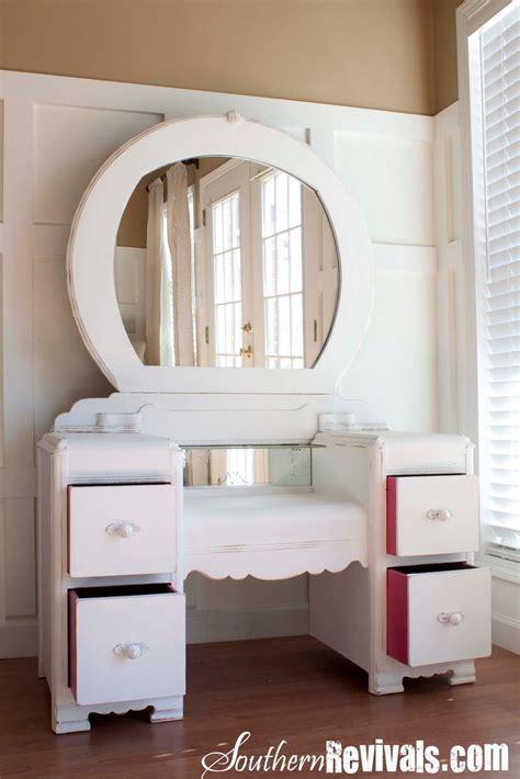 Painted Bedroom Vanity Ideas by Southern Revivals A 1940s Vanity Dresser Mirror Revival