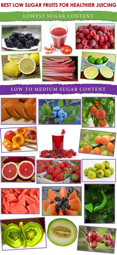 fruit with low sugar best low sugar fruits for healthier juicing infographic