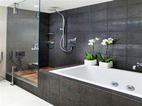 rustikale badezimmerbeleuchtung badewanne und dusche nebeneinander behindertengerechte