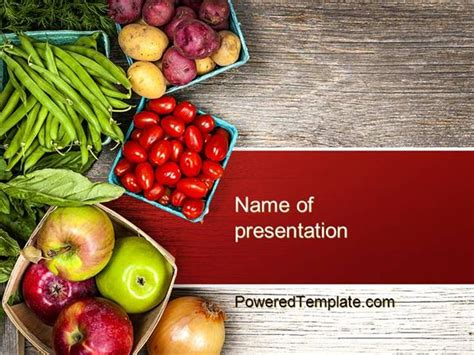 fruit and veg powerpoint template by poweredtemplate com