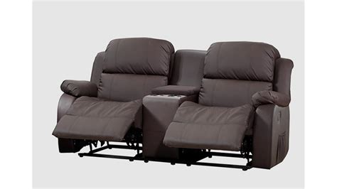 sofa 2 sitzer mit relaxfunktion sofa mit tea table lakos 2 sitzer kinosofa braun relaxfunktion