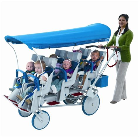 Chair Stroller Familly 6 passenger toddler daycare stroller child baby car seat carriage wagon pram six ebay