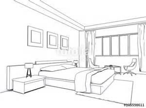 quot architectural interior drawing bedroom sketch quot stock
