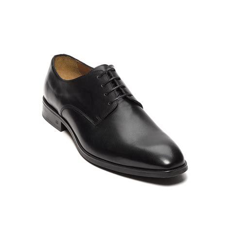 hilfiger polished leather dress shoe in black for