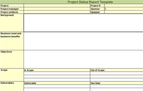 project report excel template weekly status report template excel free business template