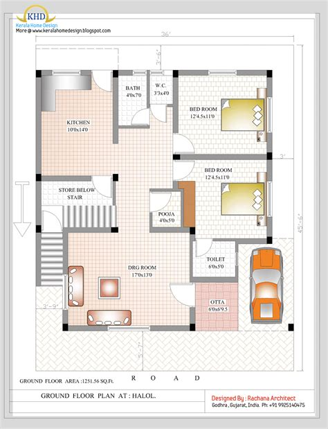 1500 sq ft bungalow floor plans duplex house plan and elevation sq ft home appliance
