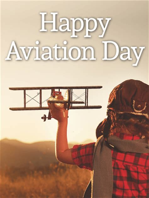 fly  happy aviation day birthday greeting cards  davia
