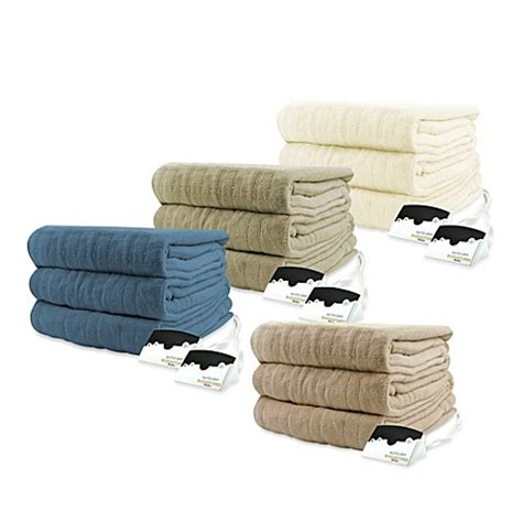 electric blanket bed bath and beyond buy biddeford blankets 174 micro plush heated queen blanket