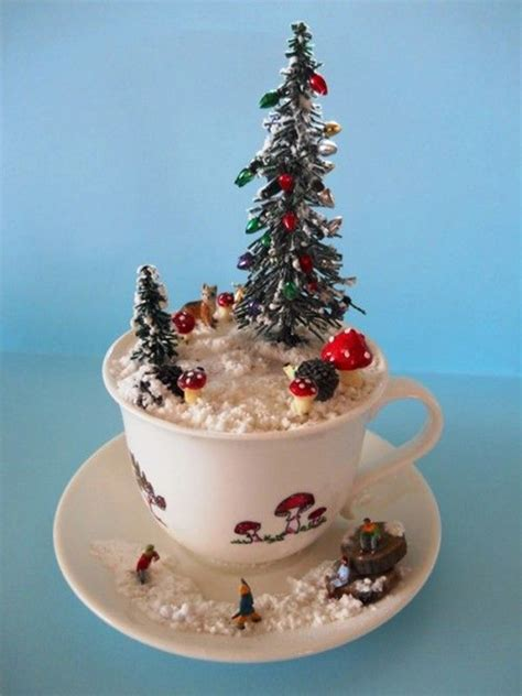 christmas scene  teacup diy ideas