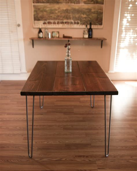 Kitchen Table Los Angeles 6ft Hairpin Dining Table Modern Dining Tables Los Angeles By Arbor