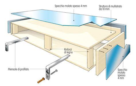 costruire mensole in legno ripiano fai da te con specchi bricoportale fai da te e