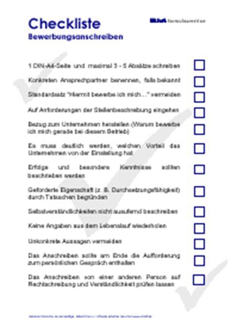 Bewerbung Mini Anschreiben Checkliste Kfz
