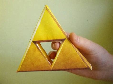 Triforce Papercraft - 1000 images about things i made on hold on