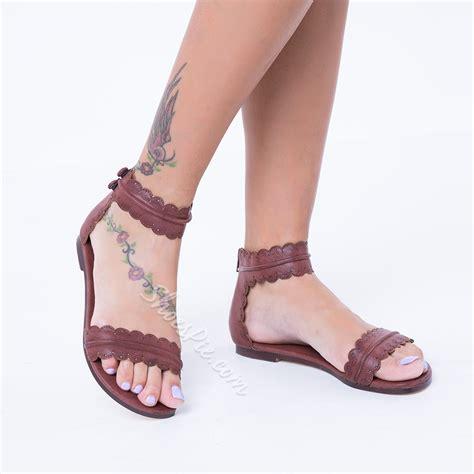 Sandal Flat Serut 3 Warna shoespie flat sandals shoespie