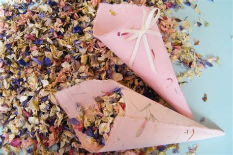 handmade confetti cones x10 pink aster dried flowers daisyshop