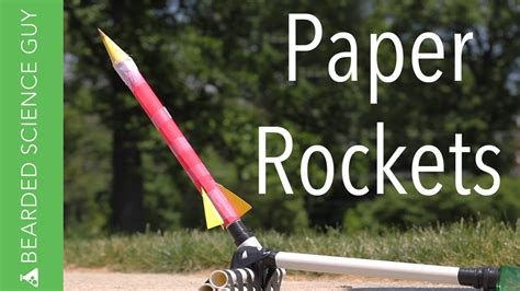How To Make A Paper Rocket For School Project - build paper rockets for five dollars updated