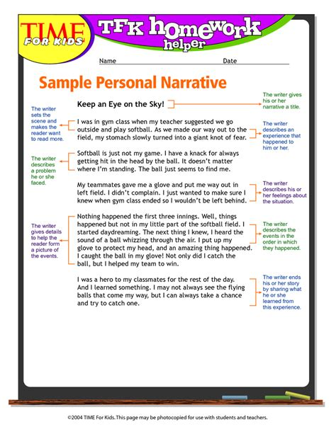 narrative essay format example format for narrative essay