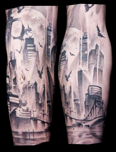 city tattoo gotham city gotham and city on
