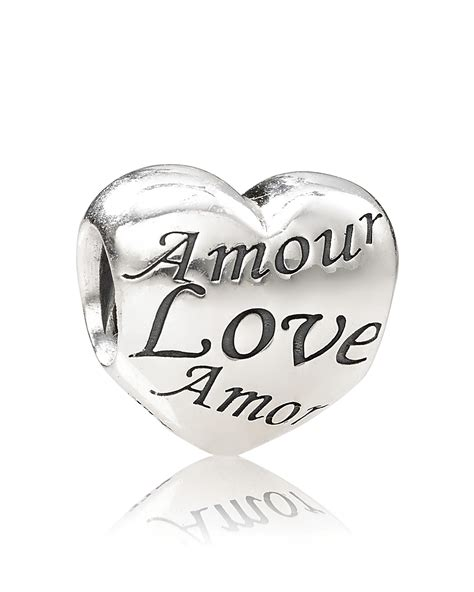 PANDORA Charm   Sterling Silver Language of Love, Moments Collection   Bloomingdale's