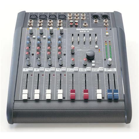 table de mixage table de mixage compact de disque mackie dfx6 224 gear4music