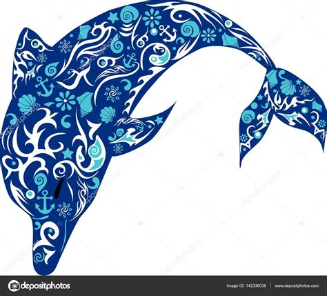 dolphin pattern drawing dolphin with patterns a marine animal the jumping fish