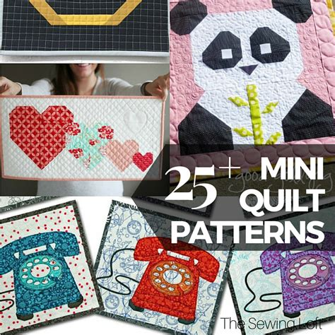 Free Quilting Projects by 25 Free Mini Quilt Patterns The Sewing Loft