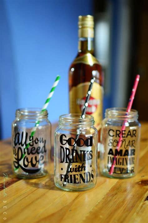 decorar vasos de mayonesa frasco vaso frases vinilo y sorbete papel 241 andut 237 deco