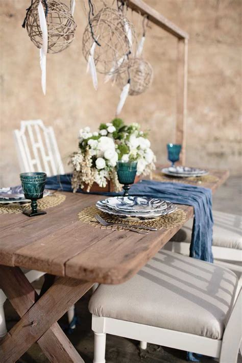 beach themed table ls bohemian beach wedding inspiration