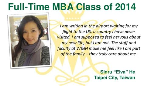 Does Mlt Allow Part Time Mba by Why We Chose W M