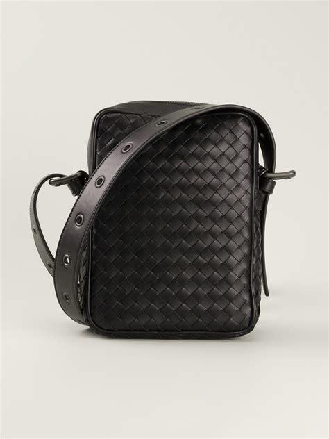 Bottega Veneta Small Woven Doctor Bag by Bottega Veneta Woven Small Messenger Bag In Black For