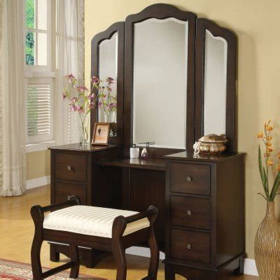 vanity furniture bedroom luxury bedroom ideas acme furniture espresso bedroom