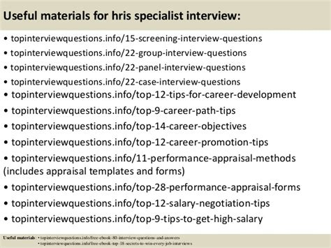 Hris Specialist top 10 hris specialist questions and answers in this file you can ref fresh