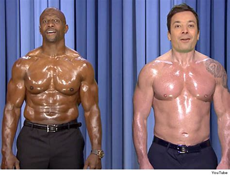 terry crews supplements jimmy fallon terry crews perform shirtless nip sync to