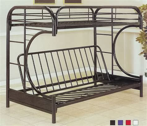 Metal Futon Bunk Beds Metal Futon Bunk Bed Plans Design Ideas