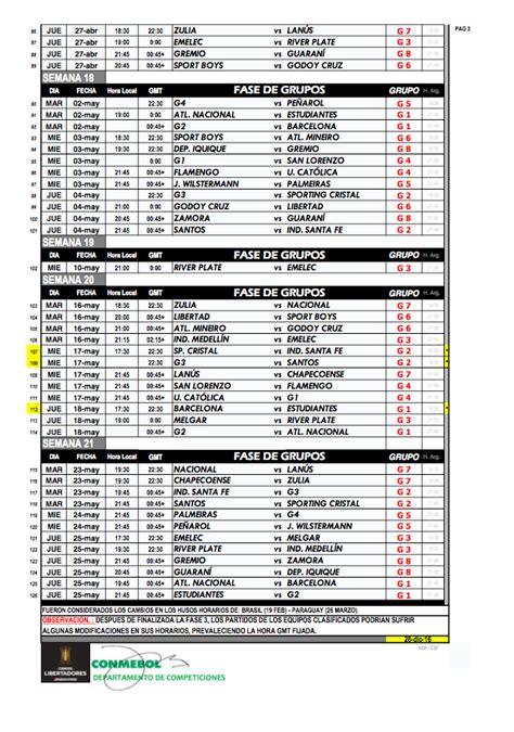 Calendario Conmebol 2018 El Calendario De Disputa De La Conmebol Libertadores
