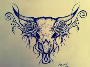 tattoo design bull skull myfolio