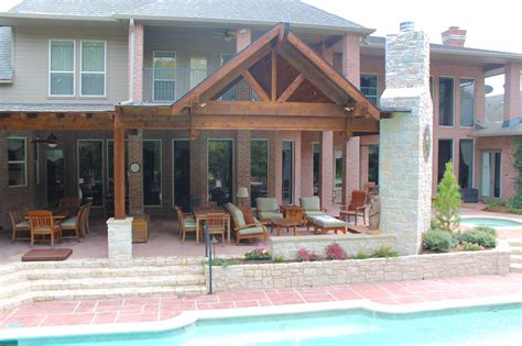 Large Patio Cover by Large Beautiful Poolside Patio Cover In Plano Hundt