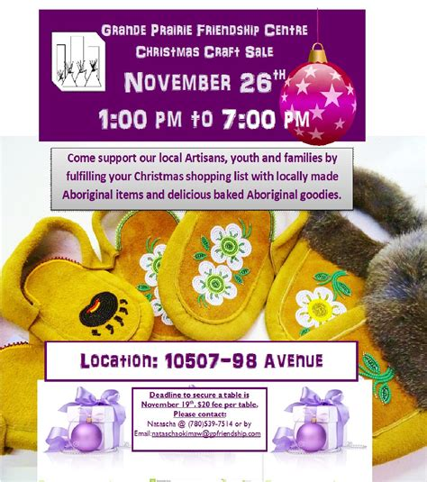 grande prairie friendship centre christmas craft fair my