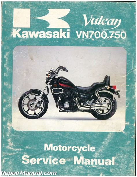 Kawasaki Service Manuals by Used 1985 Kawasaki Vn700 750 Service Manual