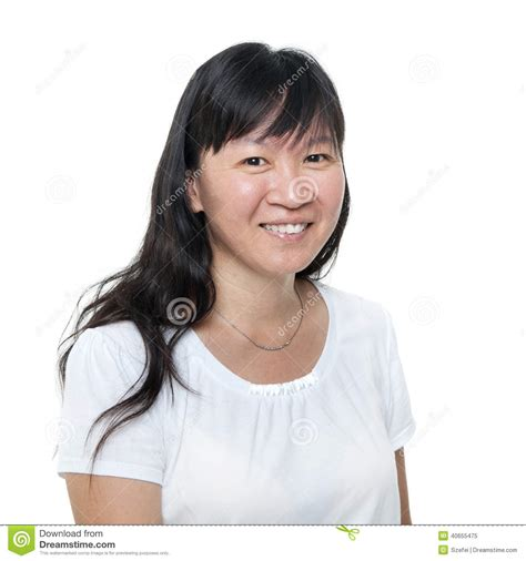 japanese middle age women middle aged chinese asian woman portrait stock photo