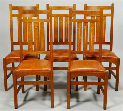 stickley dining room furniture for sale lot 434 five 5 harvey ellis stickley side chairs contem