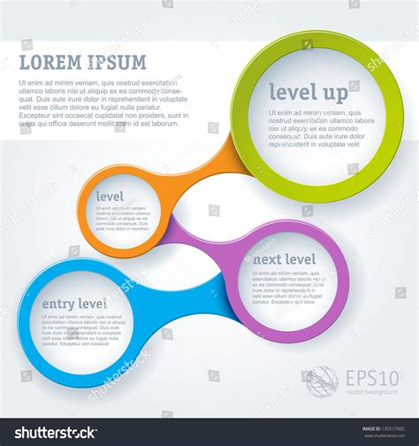 Simply Infographic Step By Step Vector Stock Vector 135517505 Shutterstock Step By Step Infographic Template