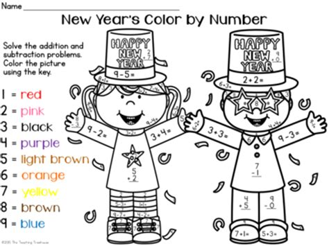new year addition worksheet number names worksheets 187 colour by numbers addition