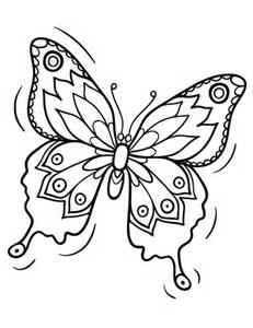 free butterfly coloring