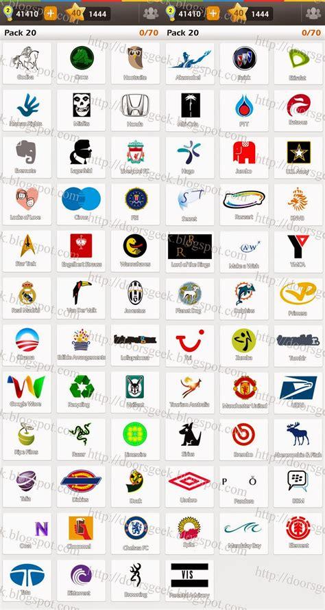 facebook logo game answers pack 5 logo game guess the brand regular pack 20 doors geek