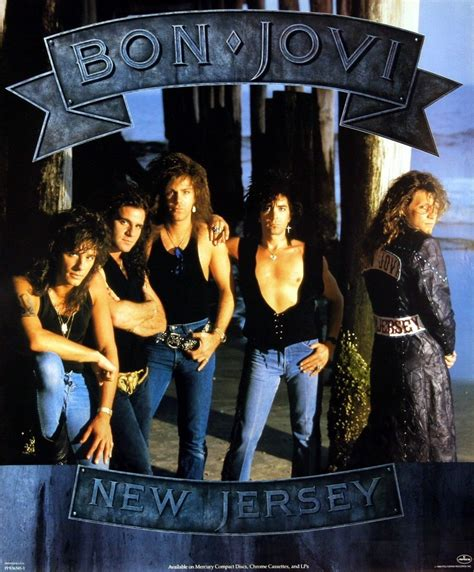 Bon Jovi 34 bon jovi 1988 new jersey promotional poster original cad