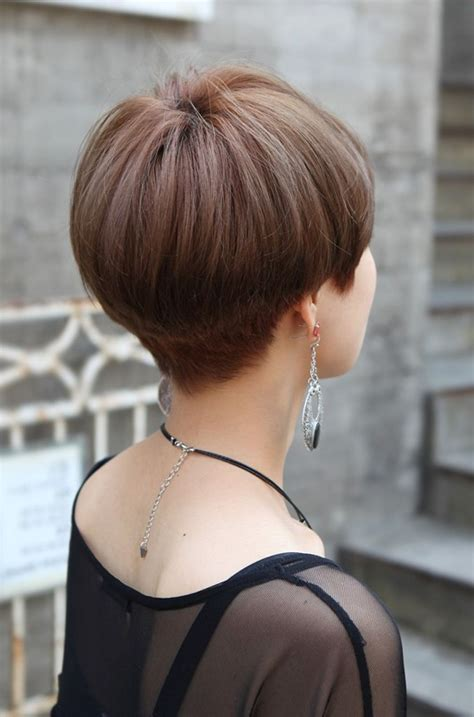 hairstyles blunt stacked related posts of quot back view of short wedge haircut