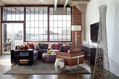 loft living room urban loft redesigned for business and pleasure griffith